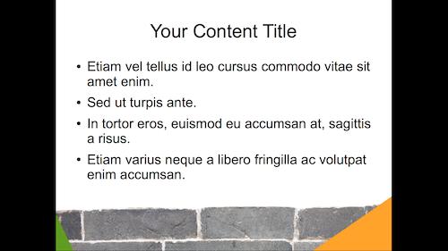 presentation template – solid foundation [openoffice impress, Presentation templates