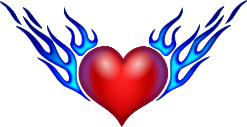 Burning Heart from openclipart.org