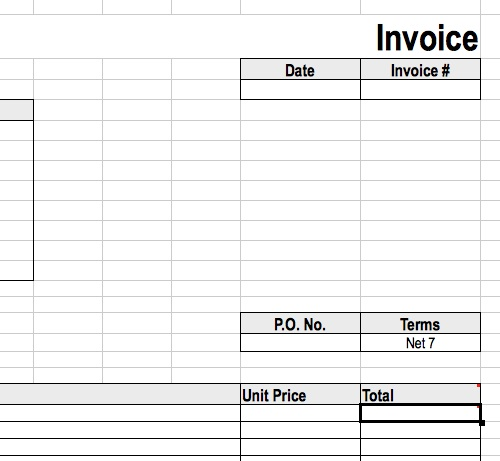 Invoice Template Templates For OpenOffice Calc Guide Office - Invoice template open office