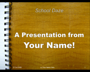 new impress template – school desk / notepad — guide 2 office, Presentation templates