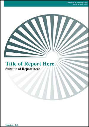 Report Template [Openoffice Writer] — Guide 2 Office