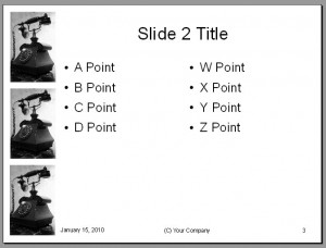 Communications Presentation Template - Content Slide