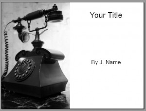 Communicate Presentation Template - Title Slide