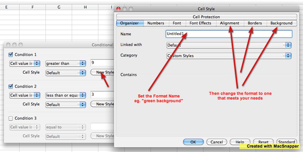 Conditional Formatting – OpenOffice Calc [MS Excel & Numbers