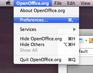 OpenOffice.org preferences