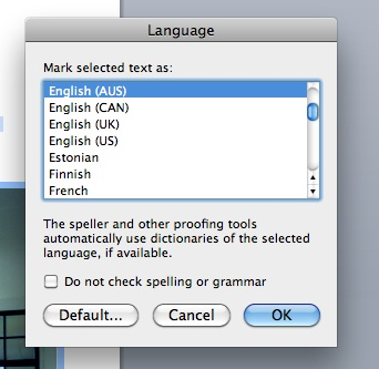 how to turn spell checker on word mac