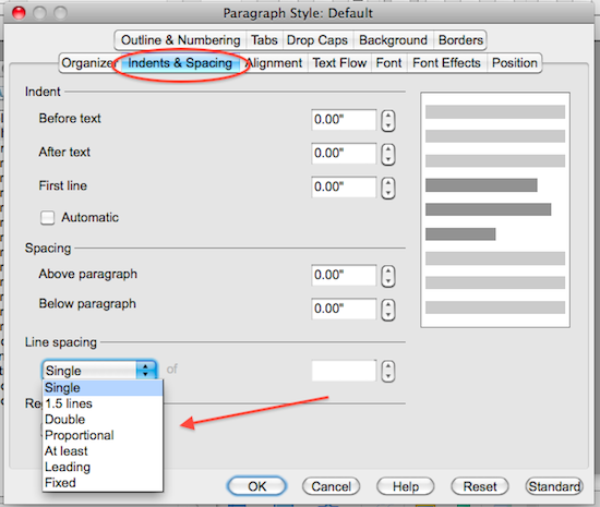 how to adjust paper size in openoffice writer