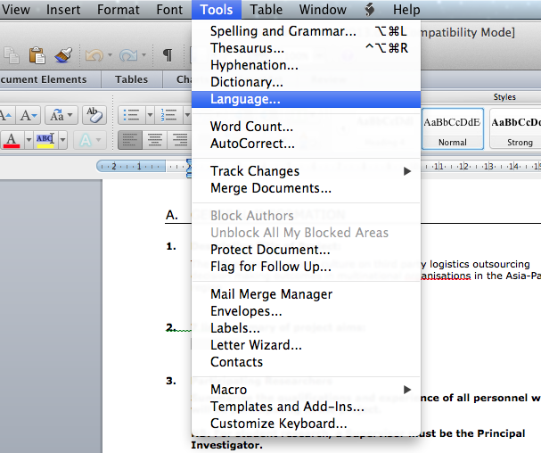 Ms Excel spell Check as You type